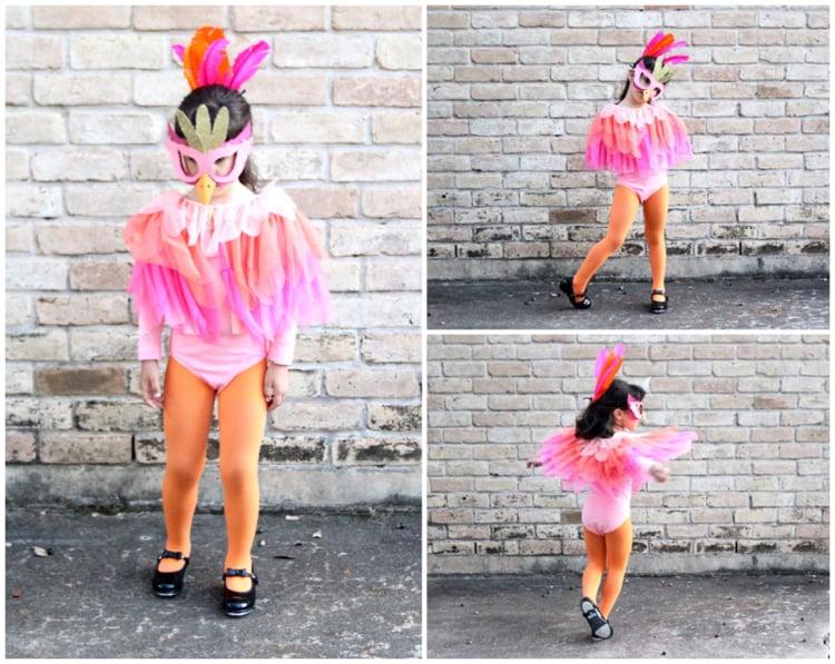 Flamingo Kostüm Kind tolle Idee Fasching
