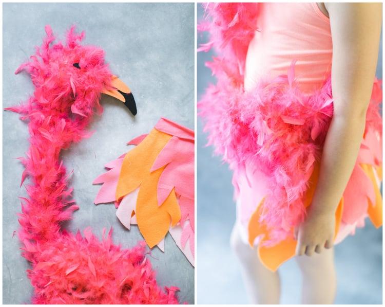Flamingo Kostüm DIY Flamingokopf basteln