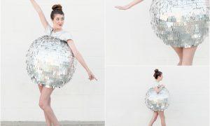 Kostüm für Schwangere super stilvoll Discokugel