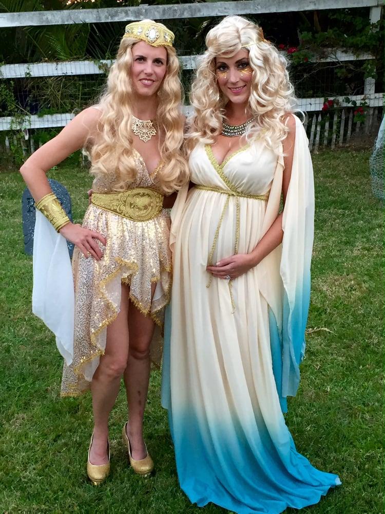 Kostüm für Schwangere griechische Göttin