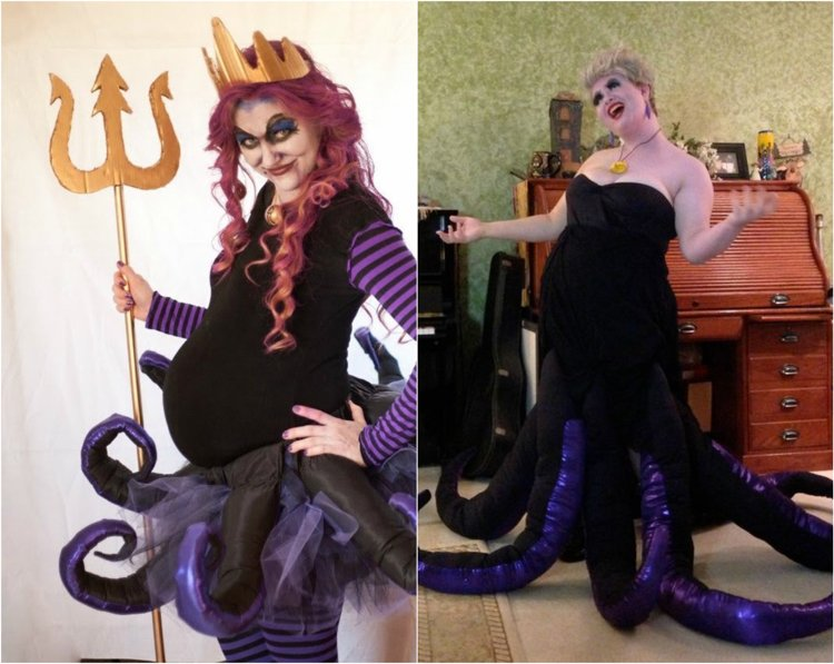 Kostüm für Schwangere Halloween schaurig Ursula
