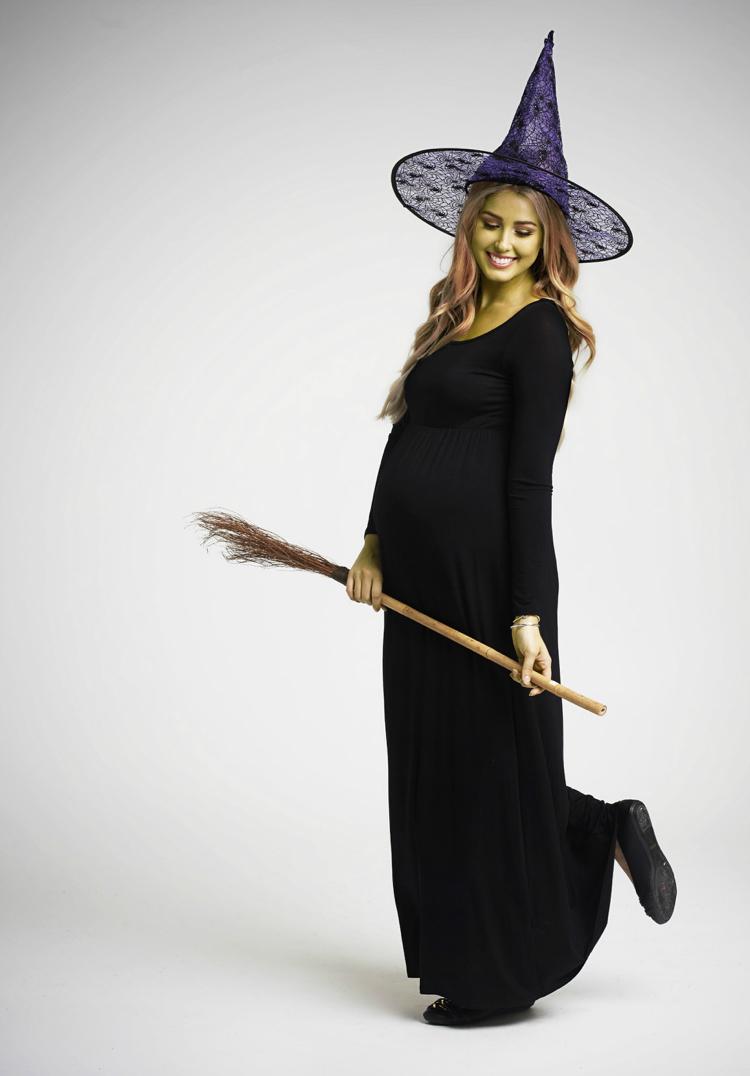 Kostüm für Schwangere Hexe