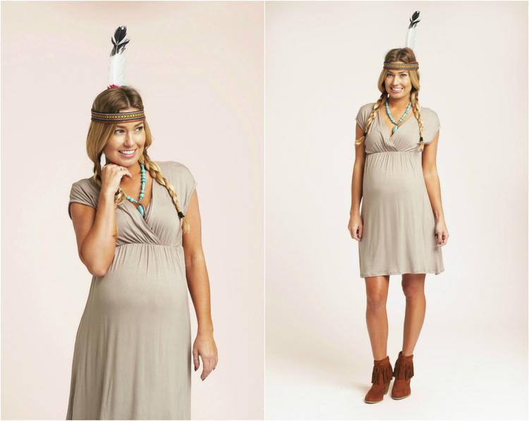 Kostüm für Schwangere Indianerin
