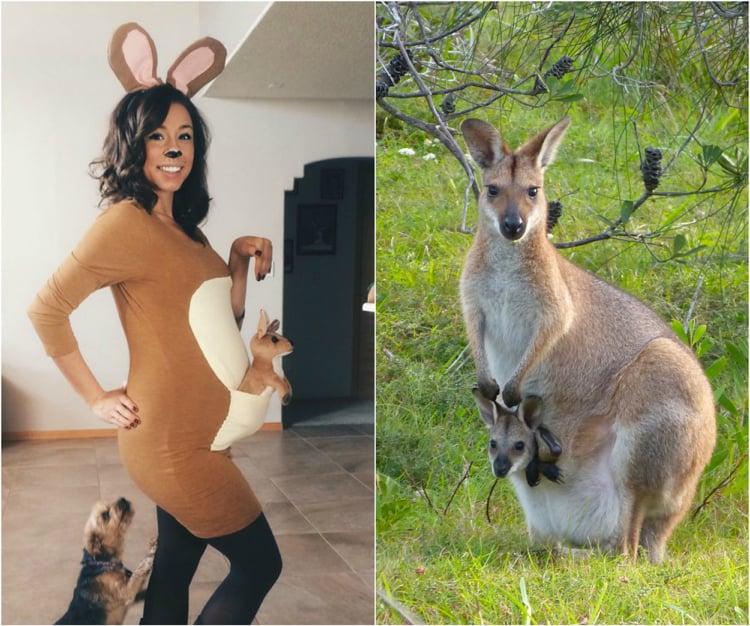 Kostüm für Schwangere niedlich Känguru