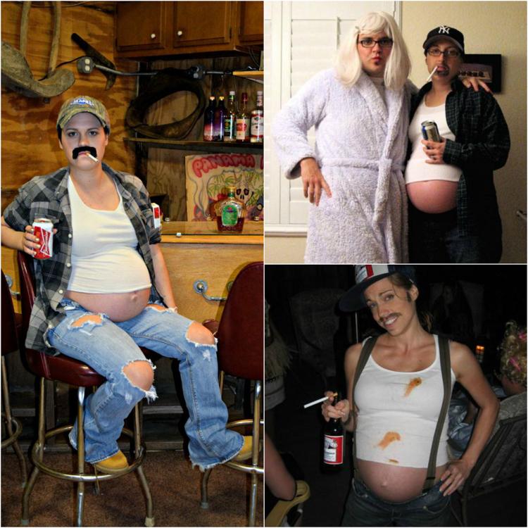 Kostüm für Schwangere lustige Ideen Mann mit Bierbauch