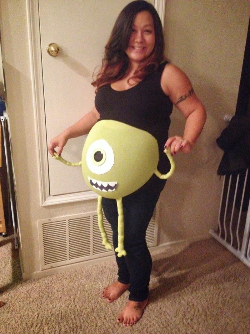Kostüm für Schwangere Babybauch betonen Monster