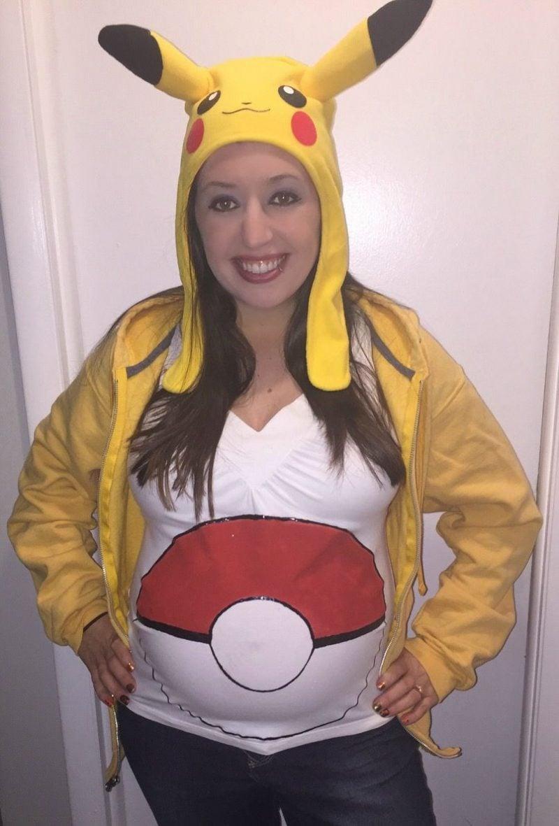 Kostüm für Schwangere Pikachu originell