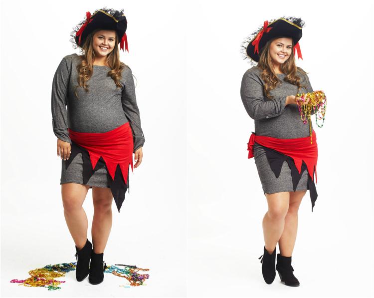 Kostüm für Schwangere Karneval Piratin