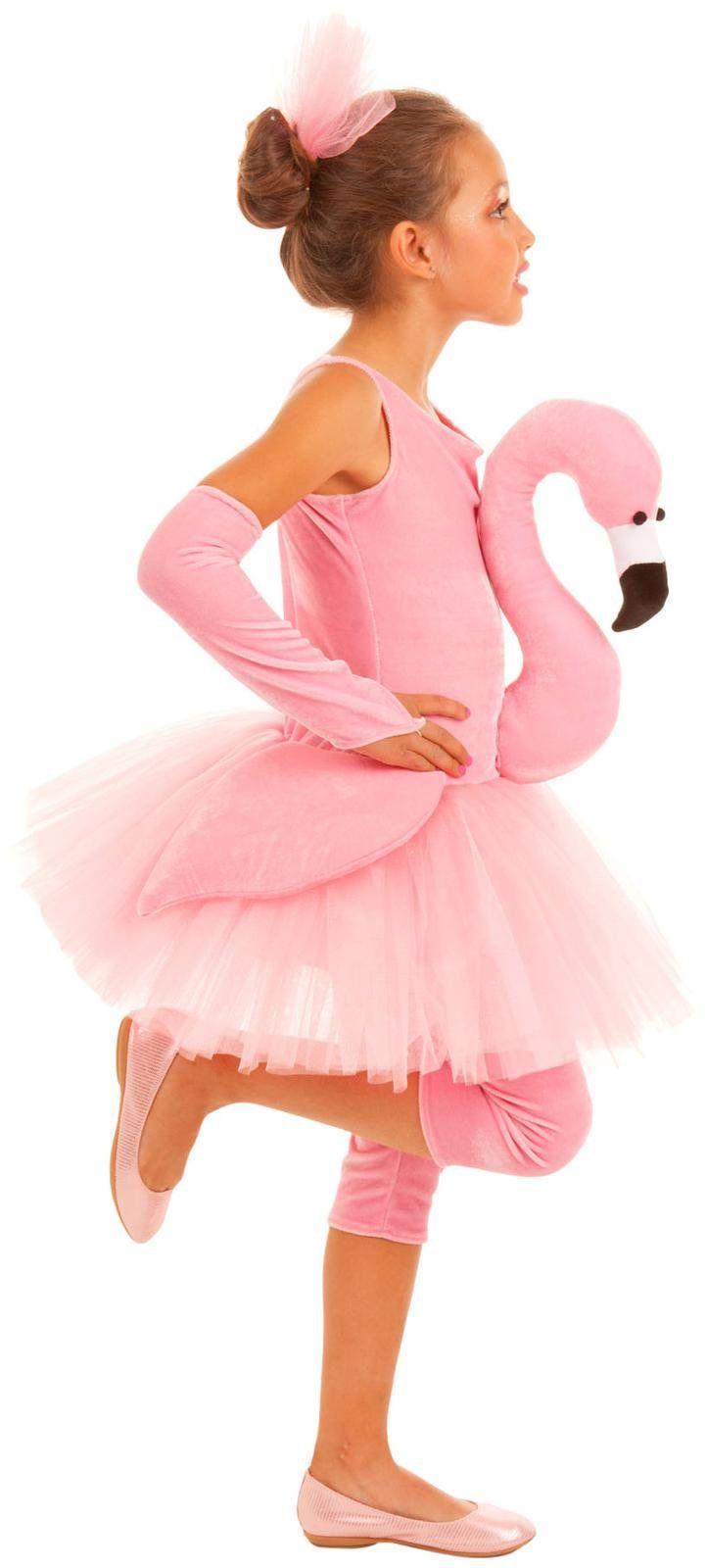 Flamingo Kostüm für Kinder Mädchen