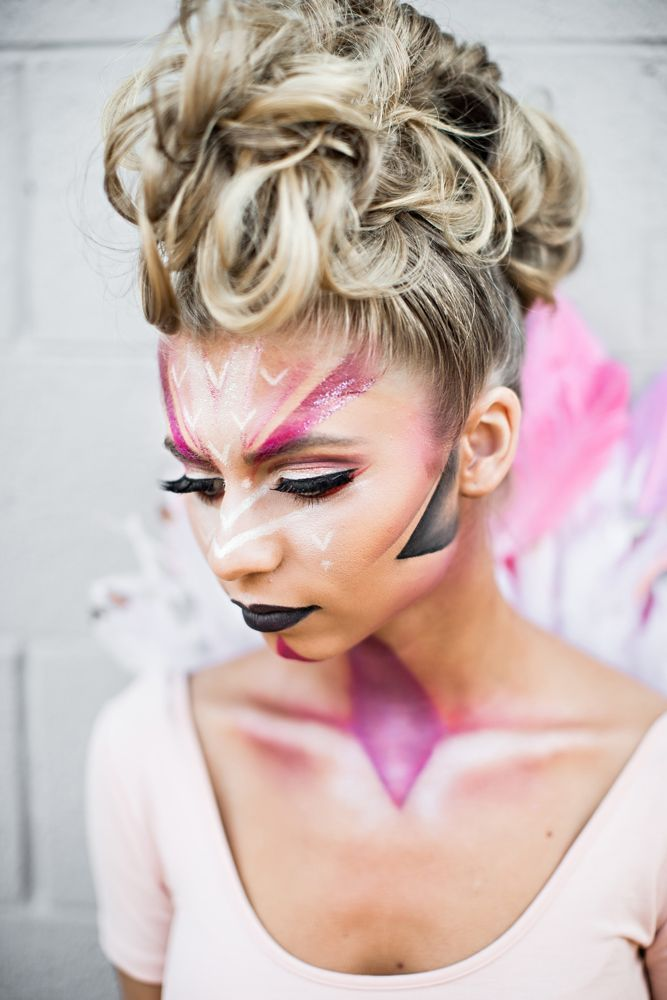 Flamingo Kostüm Fasching Schminken Damen