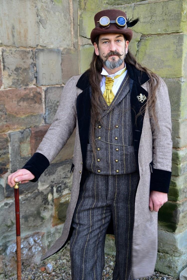 Steampunk Kleidung Anzug Krawatte Schweißerbrillen