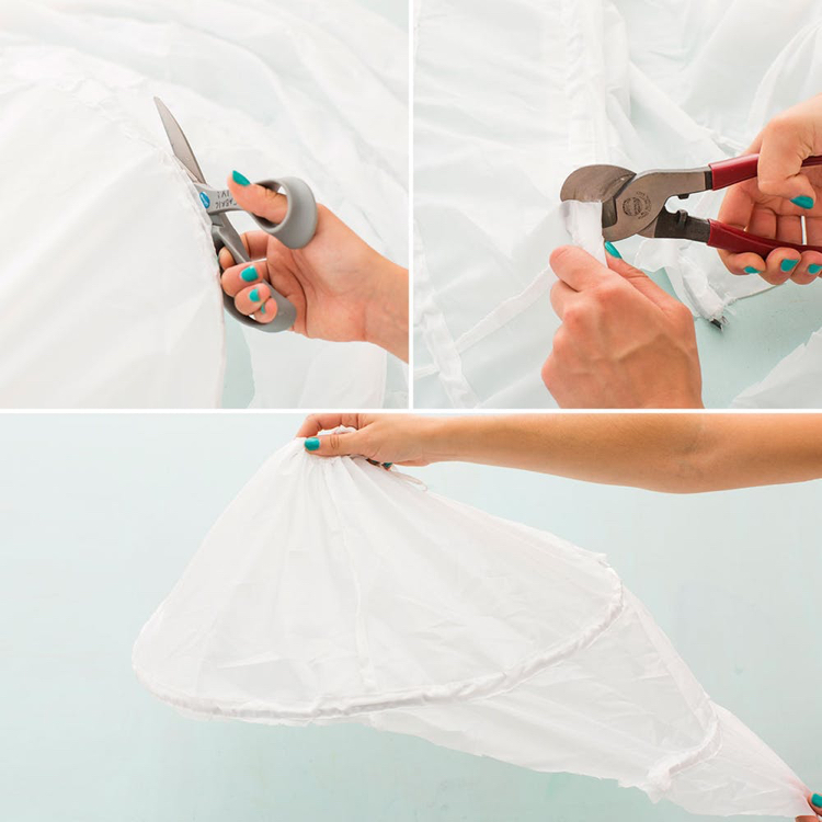 Flamingo Kostüm Reifrock schneiden DIY