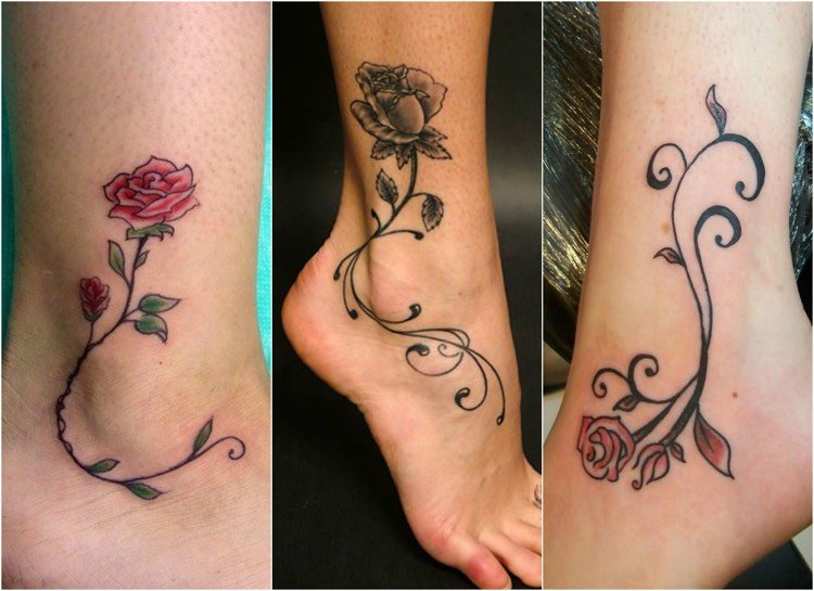 Tattoo Ranke Rosen Designideen