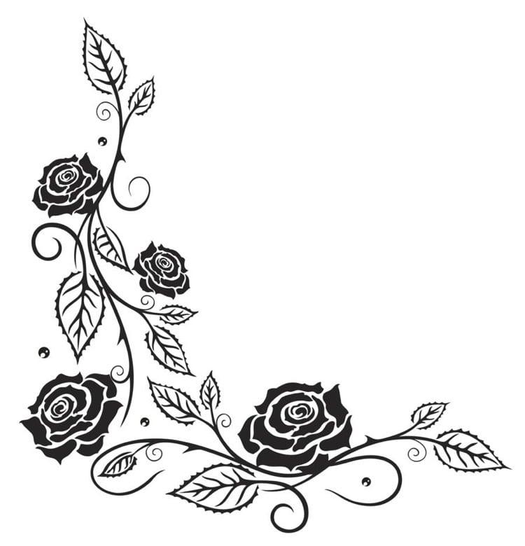 Tattoo Ranke L Form Vorlage