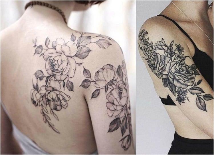 Tattoo Ranke Rücken und Schulter