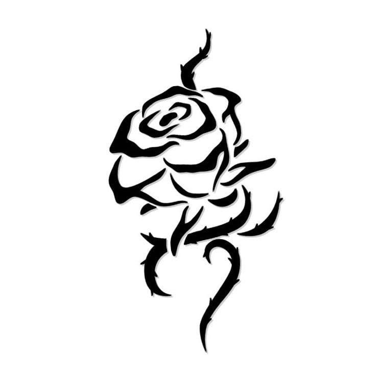 Tattoo Ranke Rose mit Dornen