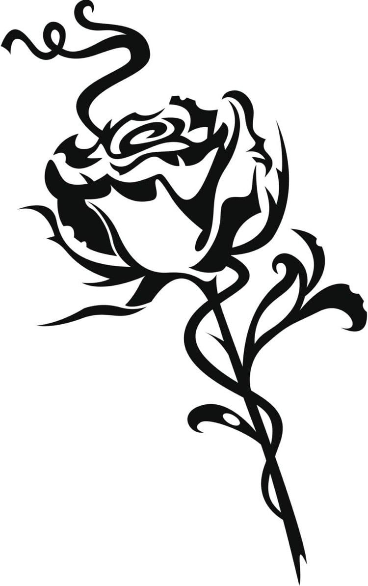Tattoo Ranke Rose Tribal