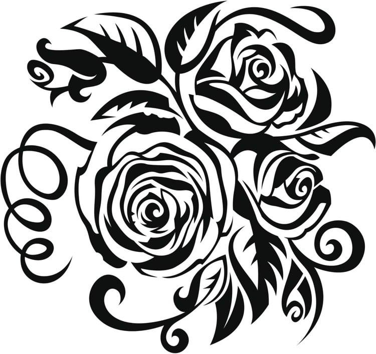 Tattoo Ranke drei Rosen