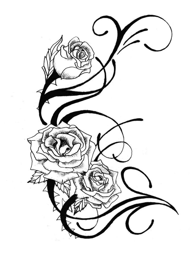 Tattoo Ranke Rosen Vorlage