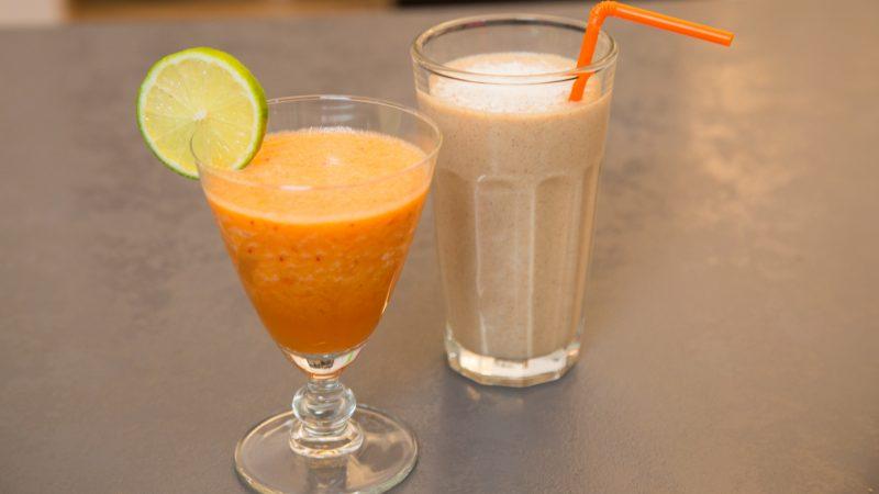 Erfrischungsgetränk Ananas Karotte Ingwer