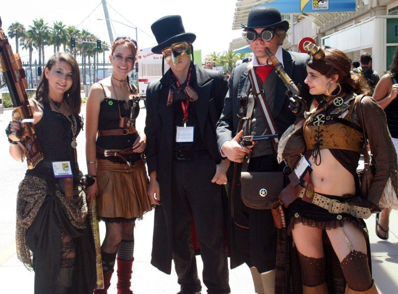 Steampunk Kleidung Gruppe Karneval