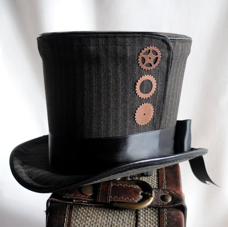 Steampunk Kleidung Zylinder Hut