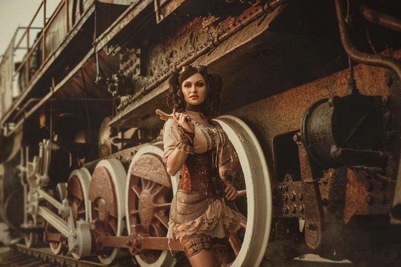 Steampunk Kleidung Frau origineller Look