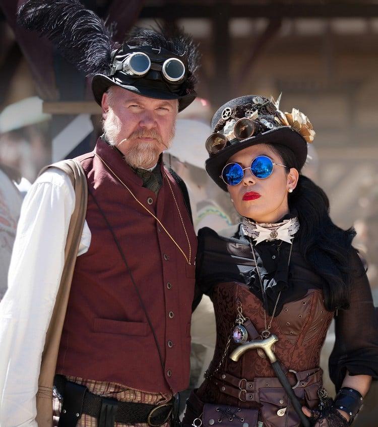 Steampunk Kleidung Fasching Paar