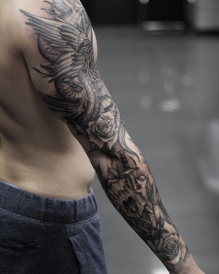coole Tattoos für Männer Arm originelle Motive