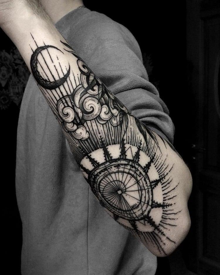 coole Tattoos für Männer Unterarm originelle Motive