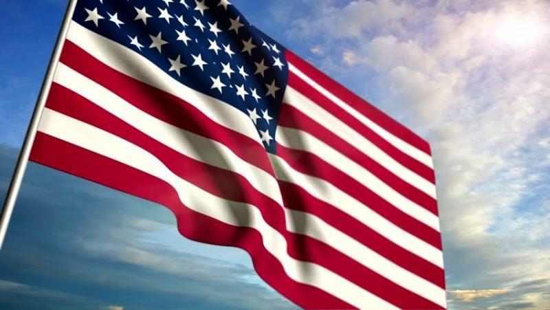 USA Rundreise Flagge