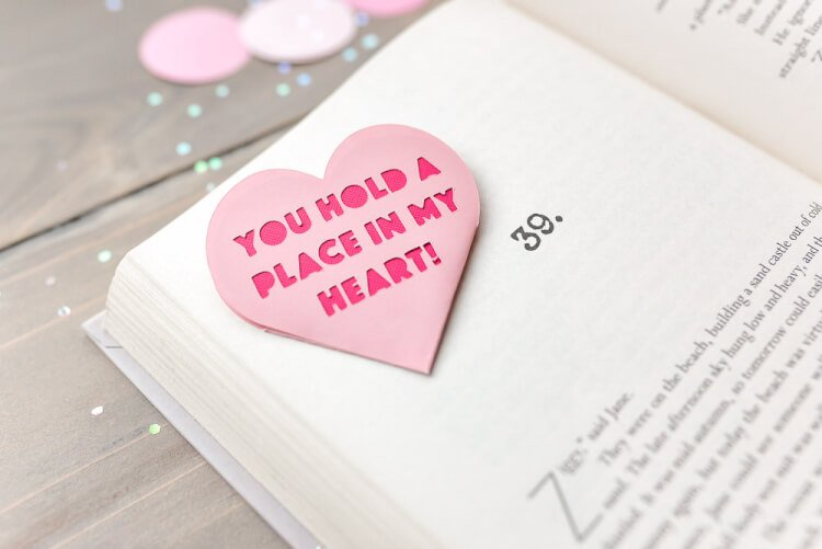 Lesezeichen basteln mit Valentinstag Sprüche