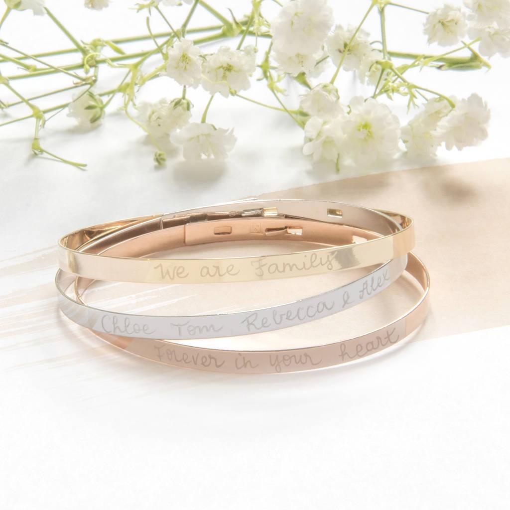 """Geschenke zum Valentinstag: Armband """"Wir sind Familie"""""""