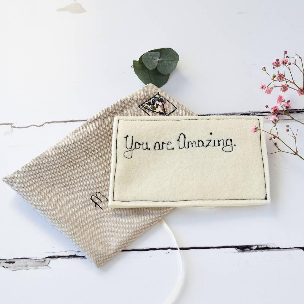 Kleine Notizen mit Kompliment für Ihre andere Hälfte