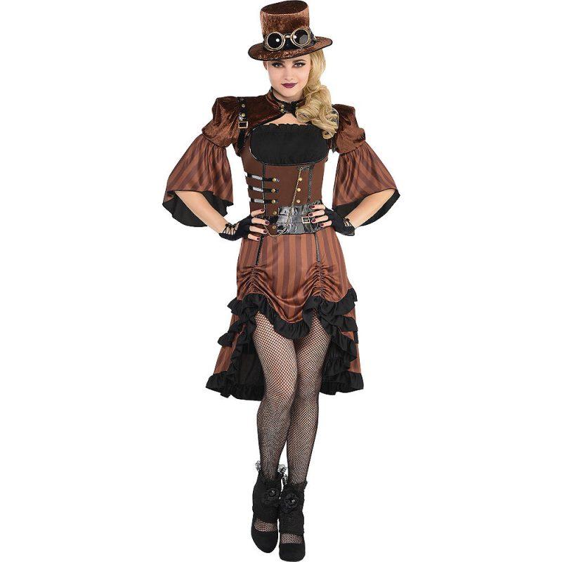 Steampunk Kleidung originelles Kleid Zylinder