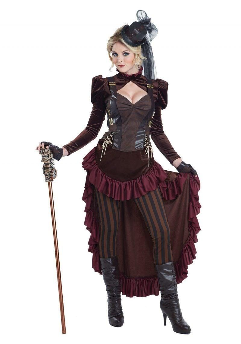 Steampunk Kleidung viktorianisches Kleid Gehstock