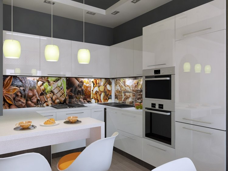 Küche Wandfarbe Anthrazit Weiß