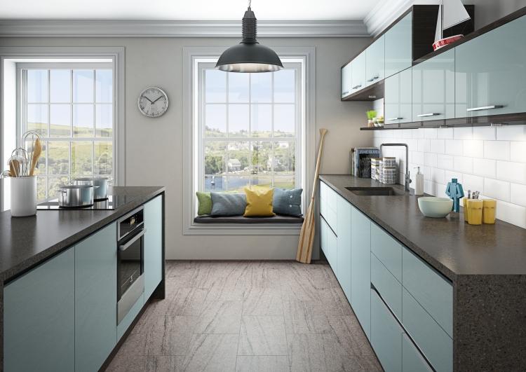 Küche Wandfarbe Perlengrau