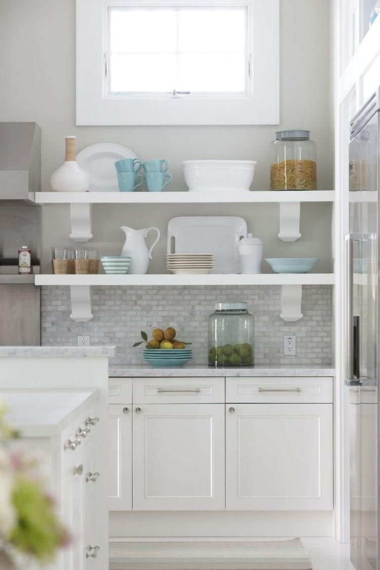 Küche Wandfarbe Grau elegant