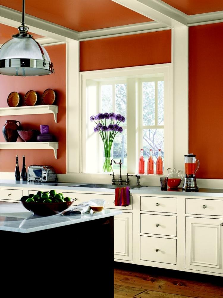 Küche Wandfarbe Ocker eindrucksvoll