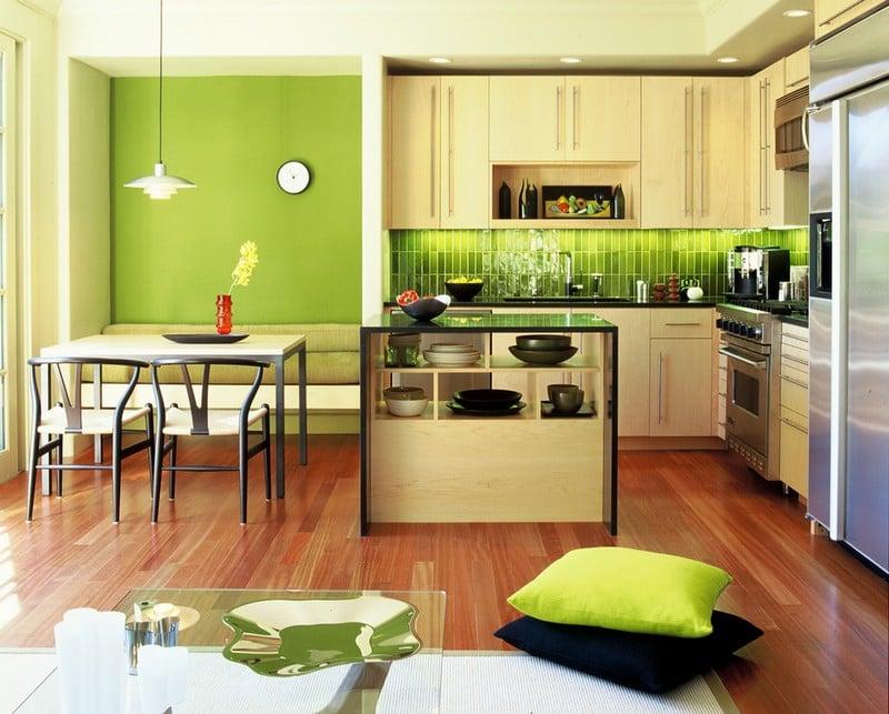 Küche Wandfarbe Olivgrün natürlich
