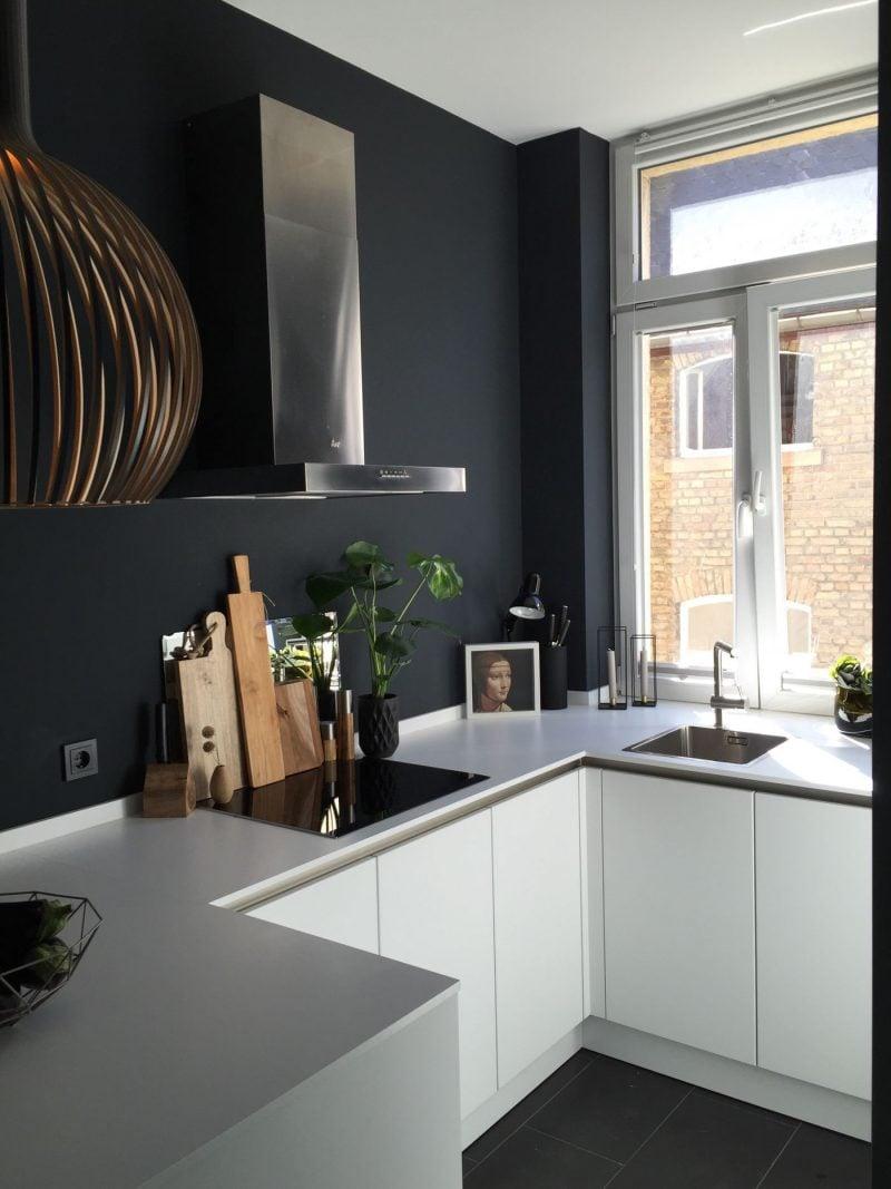 Küche Wandfarbe Petrol modern