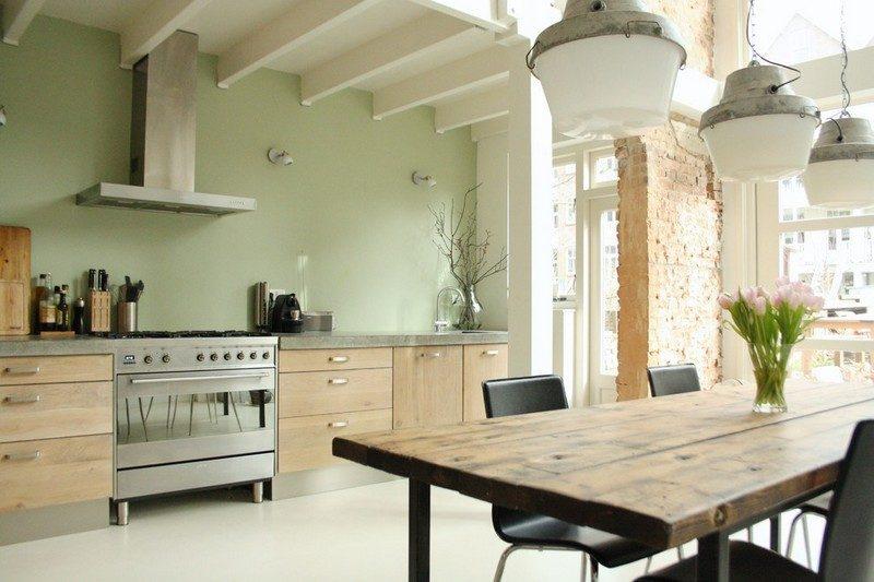 Küche Wandfarbe Salbei Cremeweiß