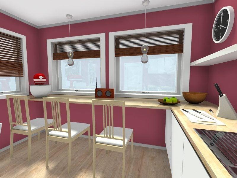 Küche Wandfarbe Violett Blickfang