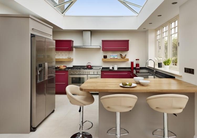 Küche Wandfarbe Wei´Lila Akzente