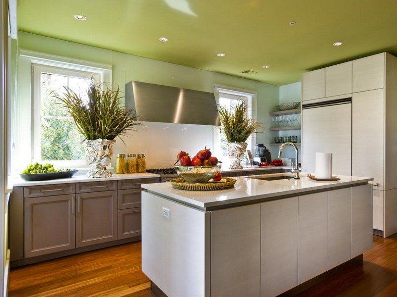 Küche Wandfarbe Olivgrün herrlicher Look
