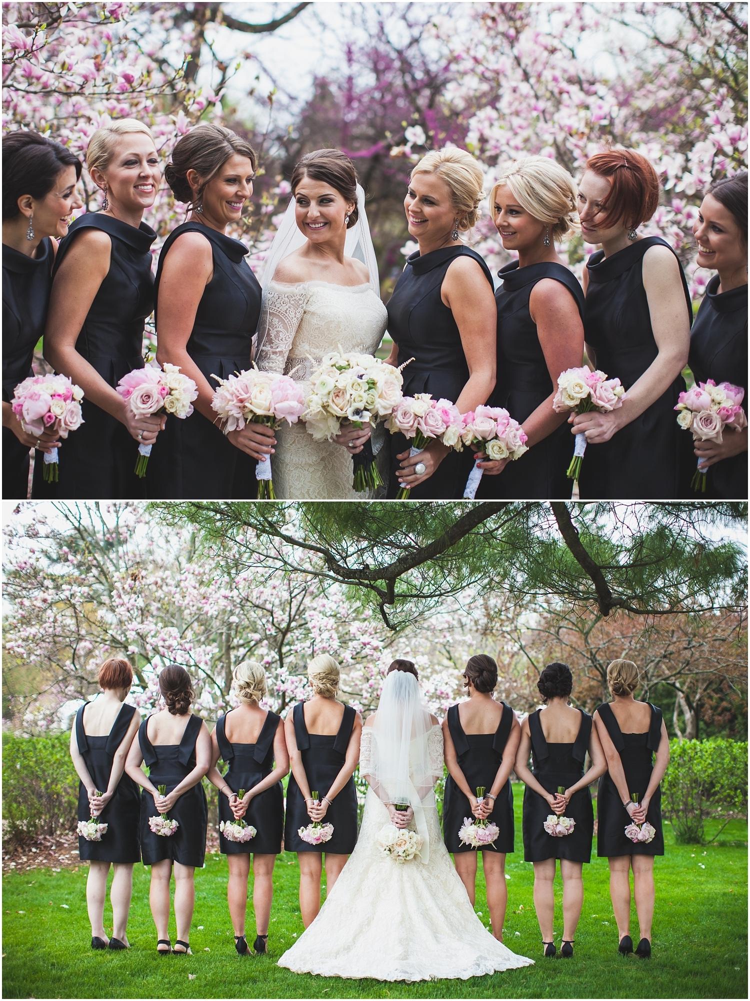 Ein sehr starker Kontrast bei Brautjungfer Kleid – Die Farbe Schwarz
