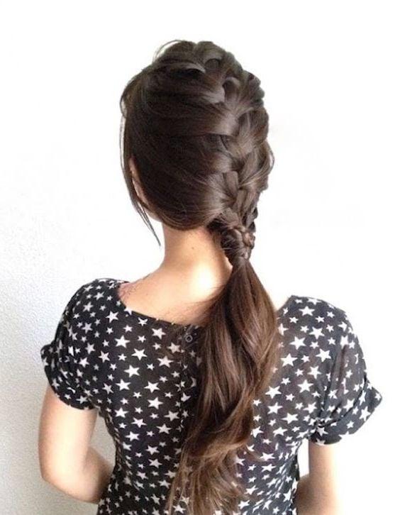 Mehrere tolle Idee für einfache Frisuren für den Alltag