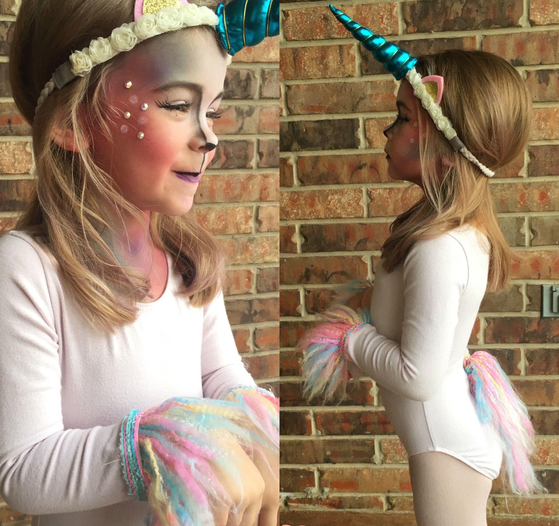 Einhorn Kostüm und Schminken für die kleine Damen