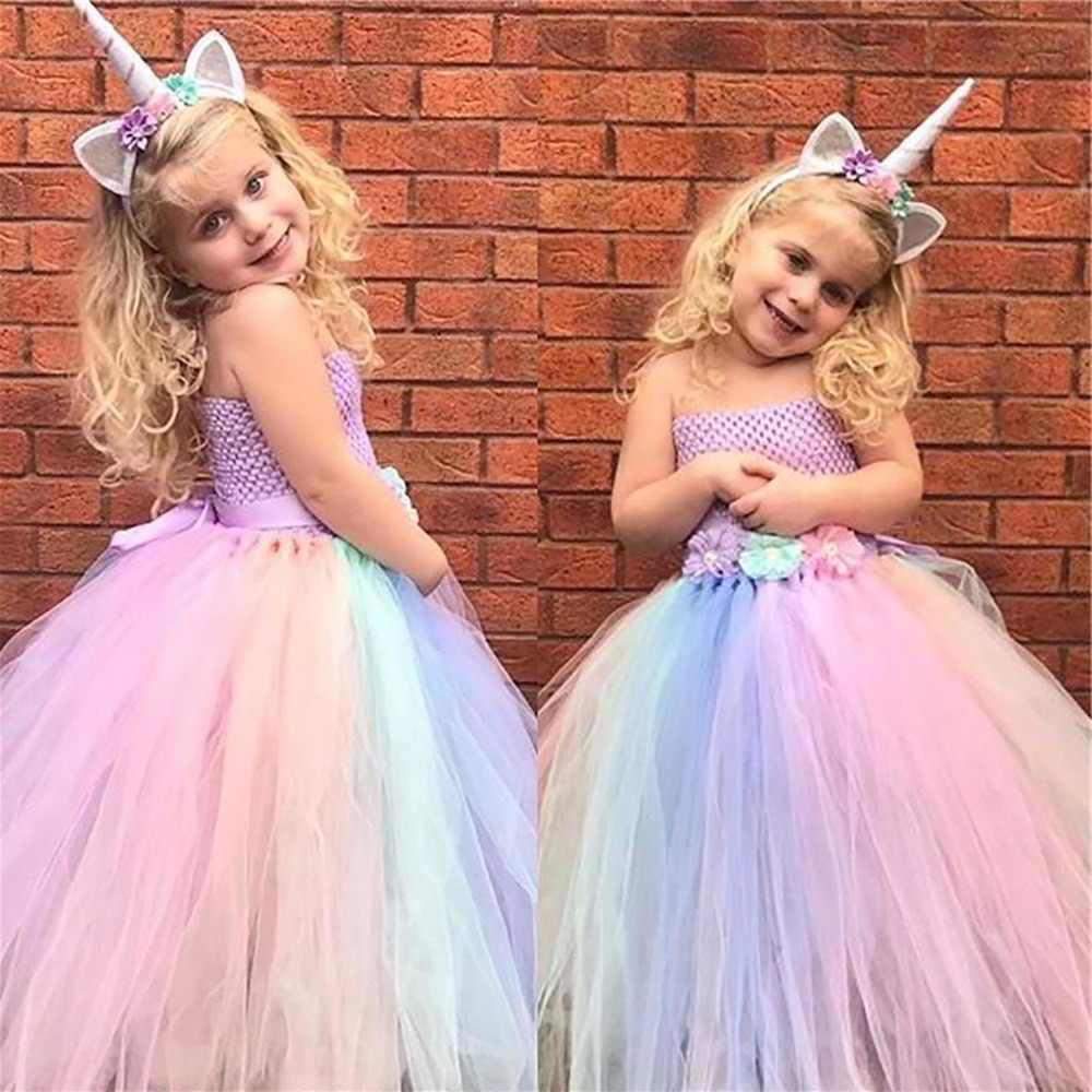 Einhorn Kostüm mit Tüllrock in Pastellfarben für die kleinen Mädels